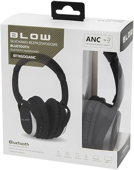 Ausinės Blow BTX600ANC Black, belaidės