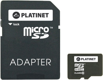 Platinet PMMSD microSDHC 16GB Class 10 w/Adapter