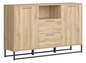 Black Red White Gamla Chest Of Drawers 150.5cm Oak