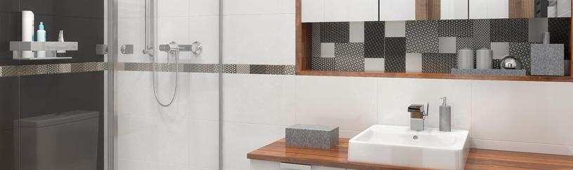 Keraminės sienų plytelės Melby Bianco, 40 x 25 cm