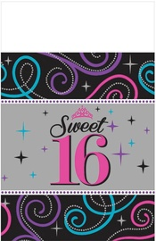 Amscan Sweet 16 Table Cover 140 x 260cm