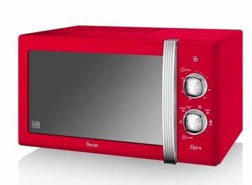 Swan Retro Manual Microwave SM22130RN Red