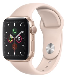 Išmanus laikrodis Apple Watch Series 5 40mm GPS Gold Aluminium Case with Pink Sand Sport Band