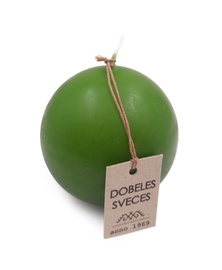 Svece bumba zaļa d-8cm