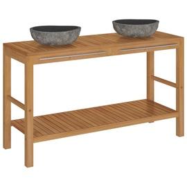 Комплект мебели для ванной VLX 246497, коричневый/серый, 45 x 132 см x 75 см
