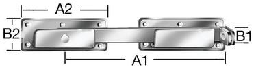 Vārtiņu krampītis 340x180x70x30mm cinks