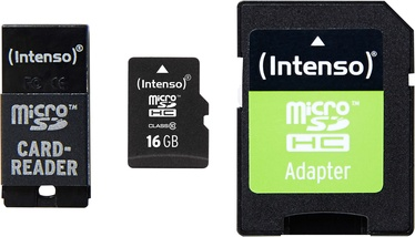 Intenso 16GB MicroSDHC Class 10 + Adapter Set 3413770