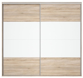 Black Red White Wardrobe Front Nadir 250-260 Sonoma Oak/White