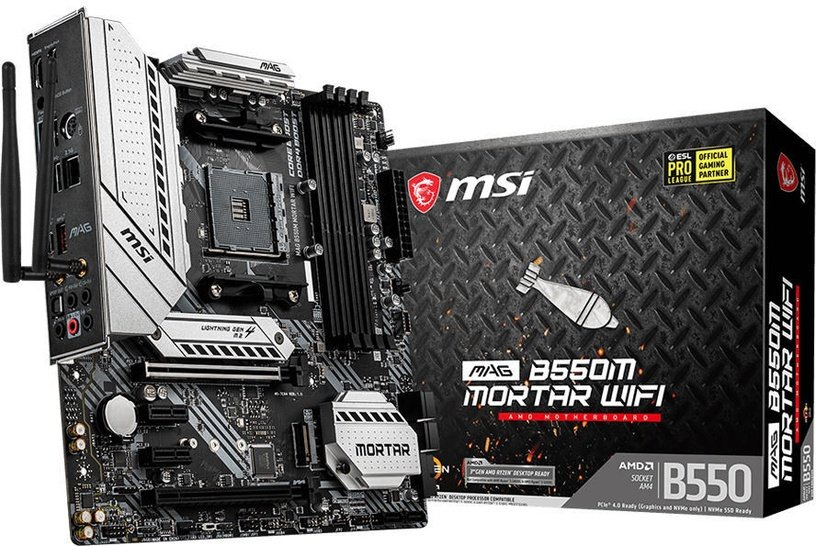 Mātesplate MSI MAG B550M Mortar WiFi