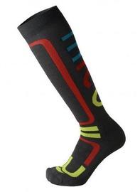 Mico Performance Snowboard Sock Medium Black/Orange 35-37
