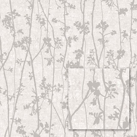 Tapetas fliz pagrindu 384626 pilkas mažos šakos (12)