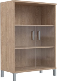 Skyland Born Shelf B 420.5 With Small Glass Doors Oak Devon
