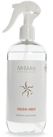 Mr & Mrs Fragrance Blanc Home Fragrance Sprayer 500ml Zanzibar Amber