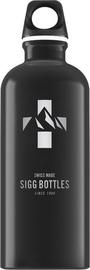 Sigg Water Bottle Mountain Black 1L
