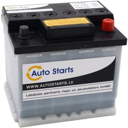 Аккумулятор Auto Starts, 12 В, 52 Ач, 470 а