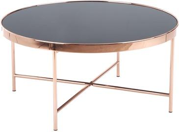 Kafijas galdiņš Halmar Moria Black/Copper (bojāts iepakojums)