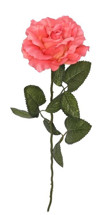 Искусственный цветок, розовый