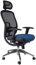Biroja krēsls Home4you Lucca Black/Blue
