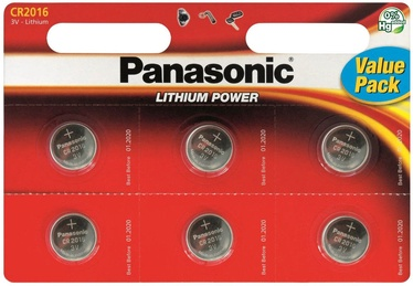 Panasonic CR2016 Lithium Coin Battery x6
