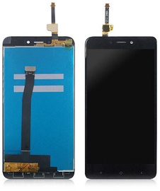 Mobilo tālruņu rezerves daļas Xiaomi Redmi 4X Black LCD Screen