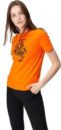 Audimas Womens Short Sleeve Tee Orange Printed L