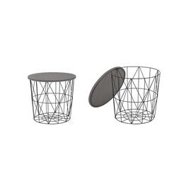 Kavos staliukas Mariffa Black/Grey, 42 x 42 x 41 cm