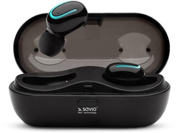 Savio Wireless Bluetooth TWS-05 Earphones Black