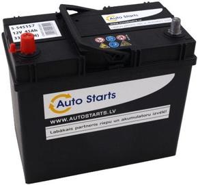 Аккумулятор Auto Starts B33, 12 В, 45 Ач, 330 а