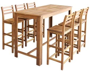 Обеденный комплект VLX 7 Pieces Solid Acacia Wood 246671, коричневый