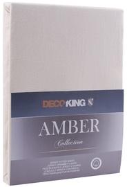 Palags DecoKing Amber, bēša, 120x200 cm, ar gumiju