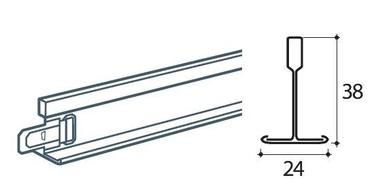 Ripplae vaheliist TVL-120 T24 valge 1,2m