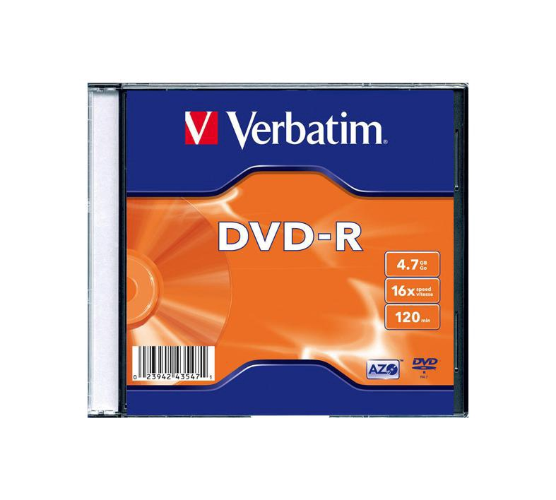 Kompaktinis diskas DVD-R Verbatim, 4,7 GB