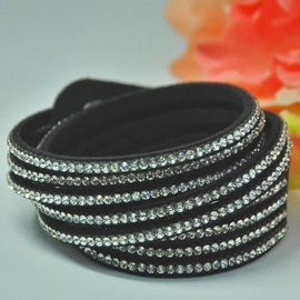 Vincento Bracelet Double Crystalsnake LB-1027