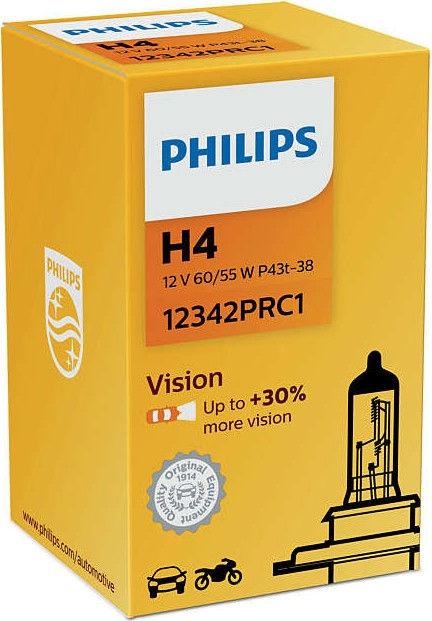 Автомобильная лампочка Philips H4 Vision +30%