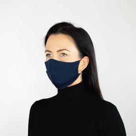 Daugkartinė veido kaukė, mėlyna