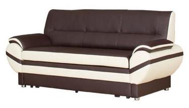 Bodzio Livonia Folding Sofa 3 Eco Leather Dark Brown/Cream