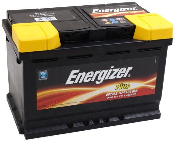 Аккумулятор Energizer Plus EP74-L3, 12 В, 74 Ач, 680 а
