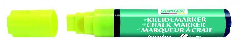 Baltās tāfeles marķieris Stanger Chalk Marker 8-15mm 4pcs Yellow 620055