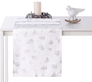 AmeliaHome Christmas Story AH/HMD Tablecloth Silver 40x120cm