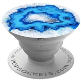 Popsocket Collapsible Smartphone Finger Grip Holder Ice Blue Agate