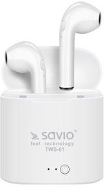 Savio TWS-01 Airpods In-Ear Bluetooth Earphones White