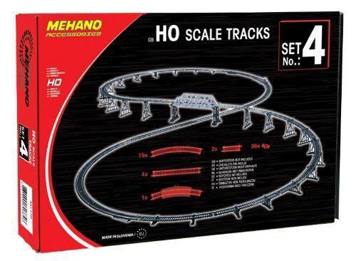 Mehano HO Additional Track Set 4 52pcs MEF104