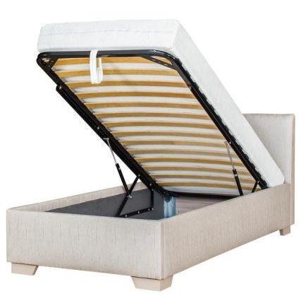 Bodzio Amadis A74 Bed w/ Mattress 90x200 Latte