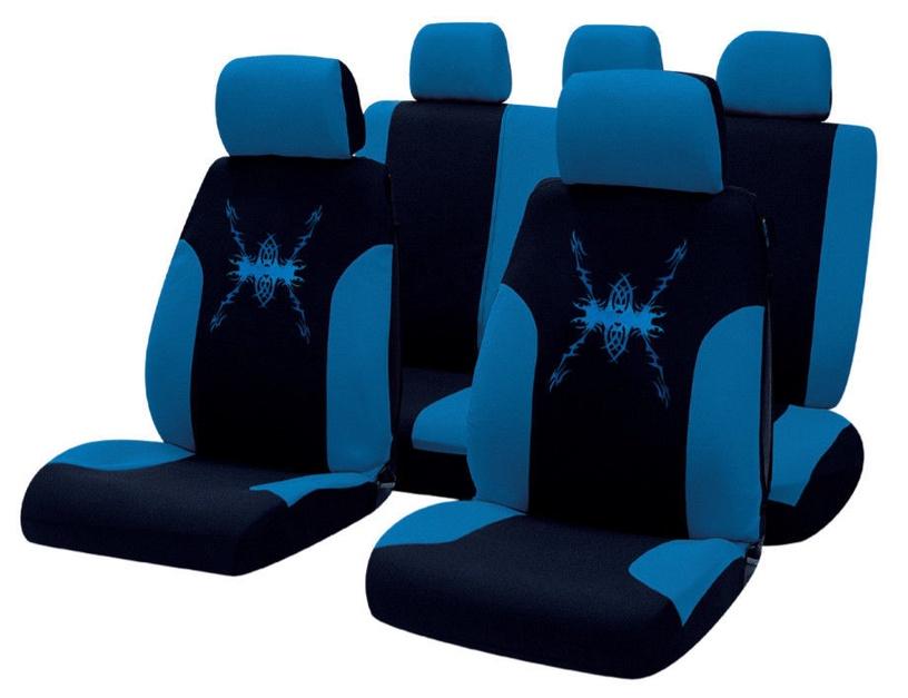 Чехлы для автомобильных сидений Bottari R.Evolution Tribal Seat Cover Set Black Blue