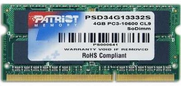 Operatīvā atmiņa (RAM) Patriot PSD34G13332S DDR3 (SO-DIMM) 4 GB