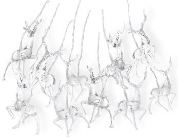 Elektriskā virtene DecoKing LED Reindeers, silti balta, 1.65 m