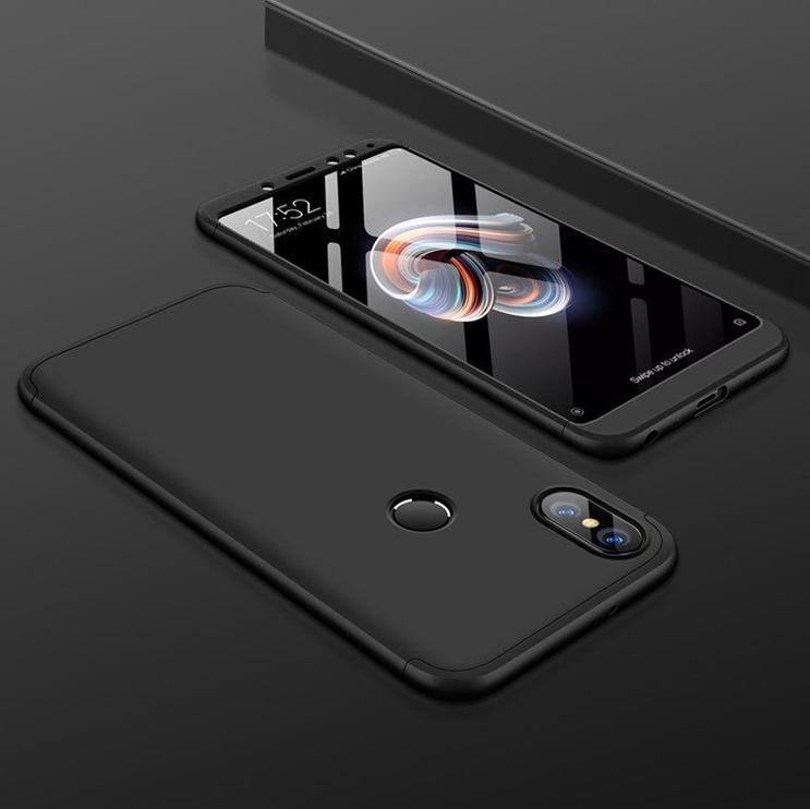 Hurtel 360 Protection Full Body Cover For Xiaomi Redmi Note 5 Dual Camera/Redmi Note 5 Pro Black