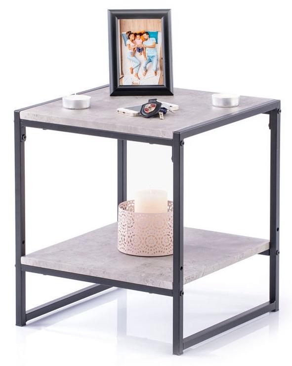 Kafijas galdiņš Homede Coxe Stone, pelēka, 400x400x450 mm