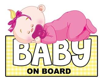 Uzlīme a/m 1/24130 baby on board - girl