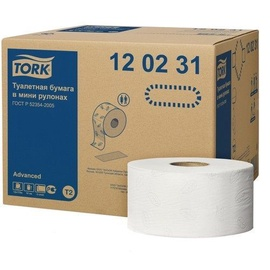 Tork Advanced Toilet Roll T2 12pcs White
